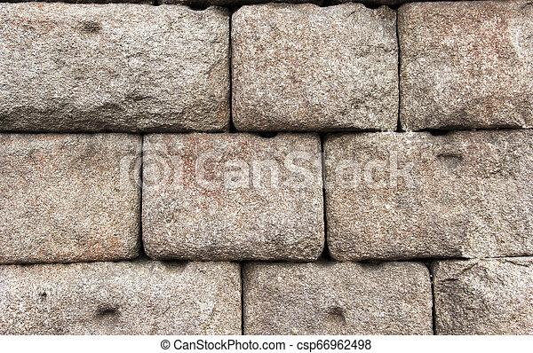 parete, pietra, rovine antiche, fondo - csp66962498