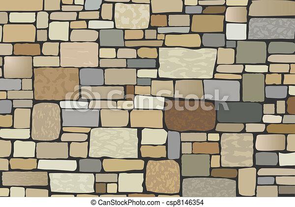 parete, pietra - csp8146354