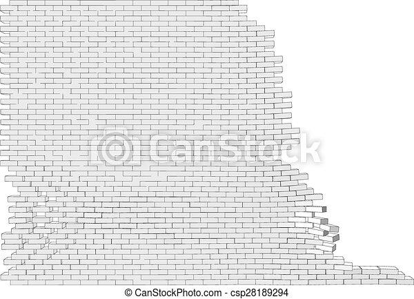 parete, rotto - csp28189294