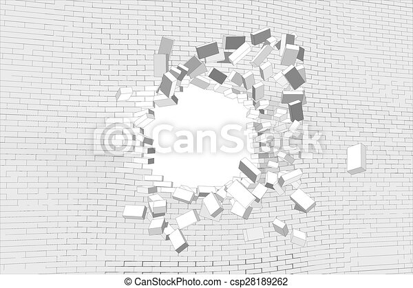 parete, rotto - csp28189262