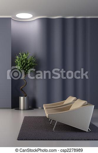parete, salotto, ondulato, disegno, stanza - csp2278989