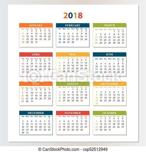 Calendario Parete.Parete Saturday Domenica 2018 Calendario