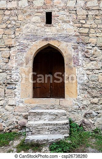 parete, scale, pietra, porta - csp26738280