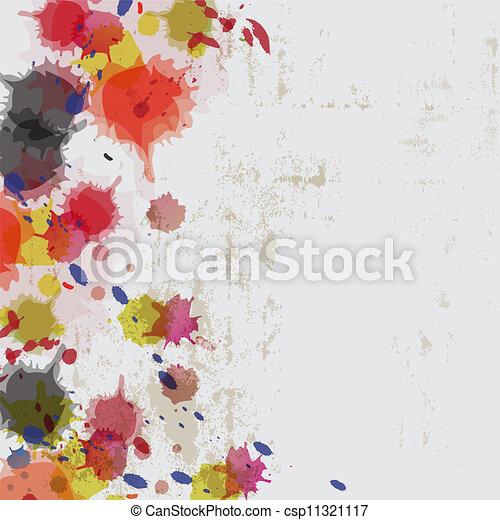 parete, splatter, grunge, inchiostro - csp11321117