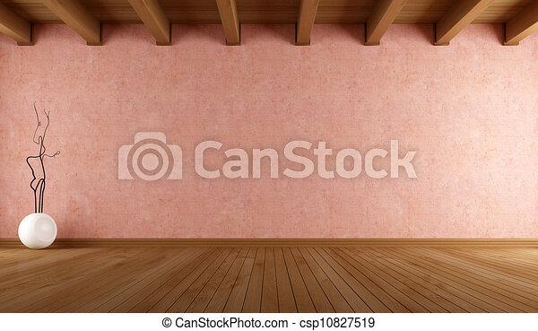 parete, stanza, vuoto, stucco - csp10827519