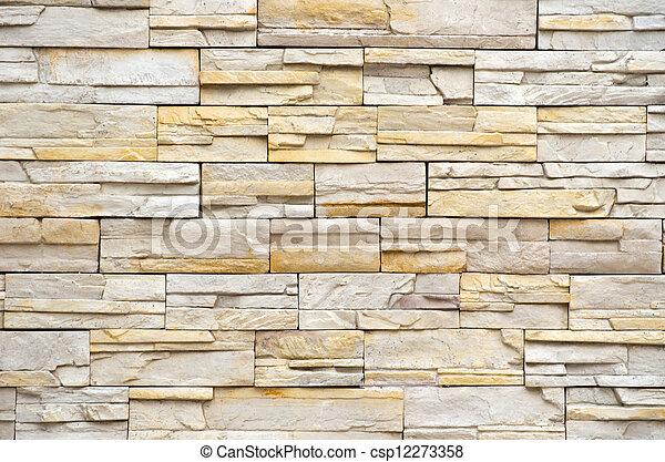 parete, struttura pietra - csp12273358