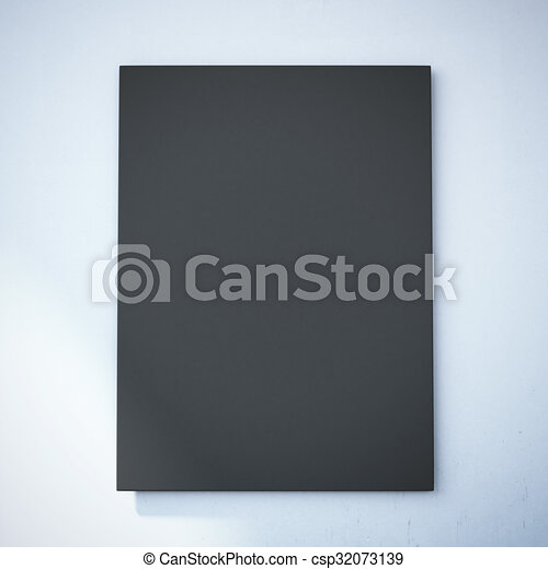 parete, tela, nero, bianco, vuoto - csp32073139