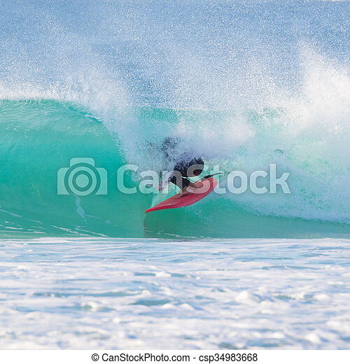 parfait, équitation, wave., surfeur - csp34983668