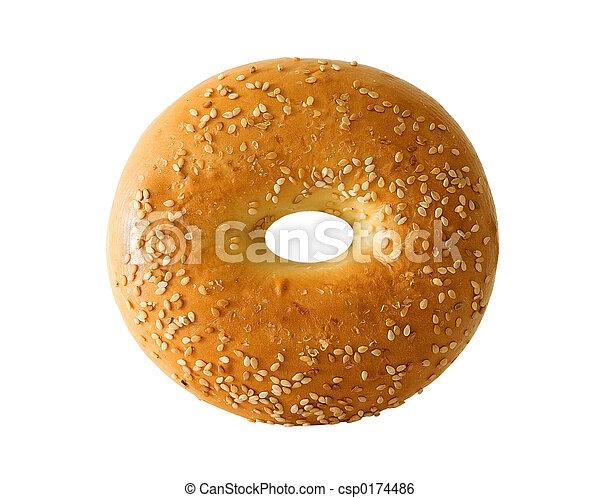 parfait, bagel - csp0174486