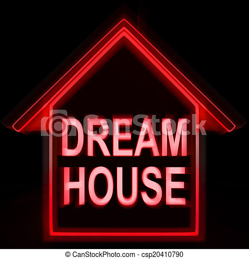 parfait, maisons, famille, moyens, maison, rêve - csp20410790