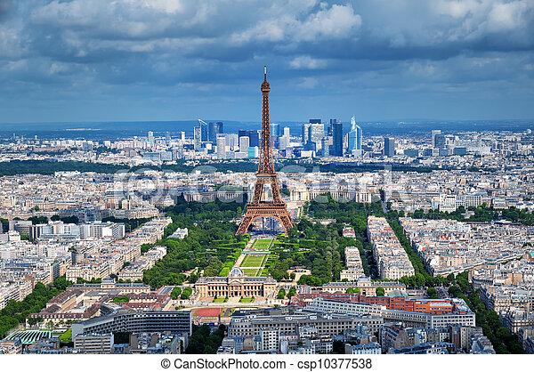 parigi, eiffel, -, torre, francia - csp10377538