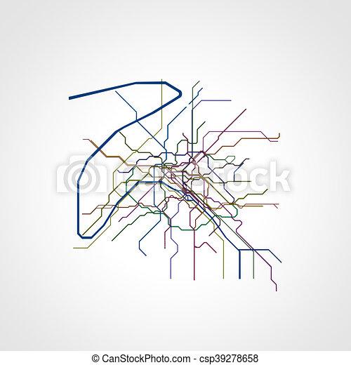 Parigi Cartina Metro.Parigi Mappa Metro Parigi Mappa Illustrazione Metro 3d Canstock