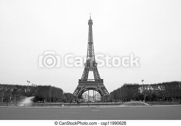 parijs, toren, eiffel - csp11990628