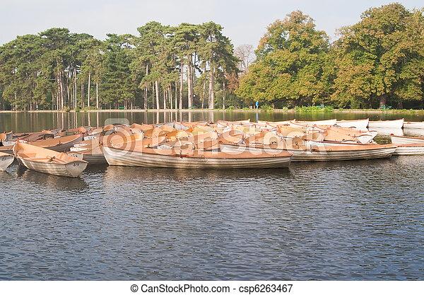 paris, bateau, boulogne - csp6263467