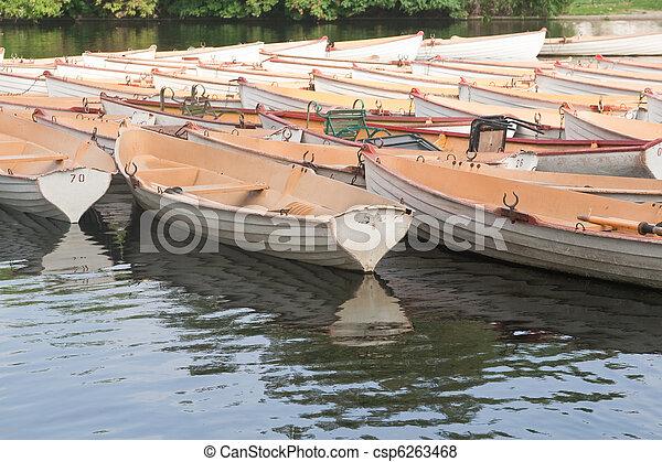 paris, bateau, boulogne - csp6263468