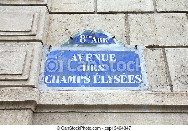 Paris - Champs Elysees - csp13494347