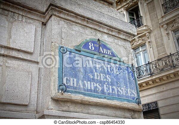 Paris Champs Elysees - csp86454330