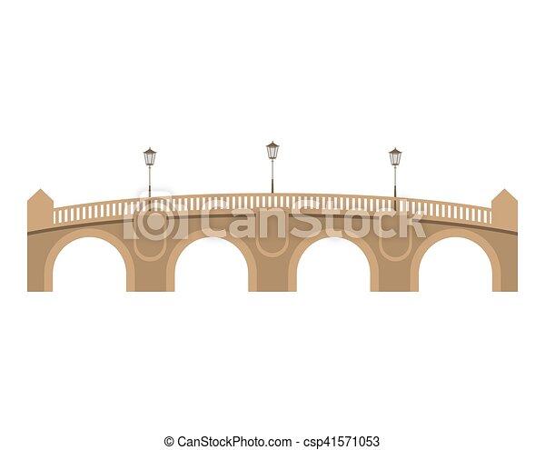 Pont Neuf Bridge Over White Background Paris City Design Vector Illustration Canstock