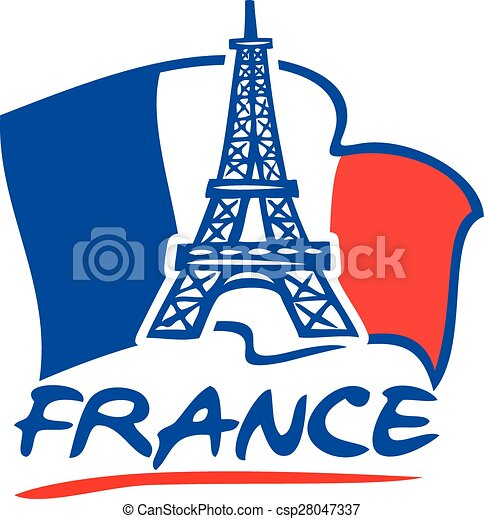paris eiffel tower and france flag paris eiffel tower vectors rh canstockphoto com france clipart free french clip art oh lala