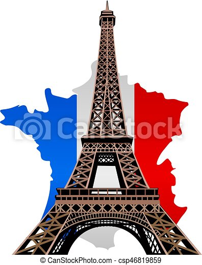 illustration of paris eiffel tower with country france clipart handprint clipart hand pointing