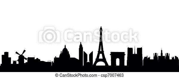Detailed Vector Skyline Of Paris Vectors
