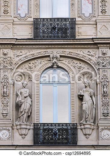 Paris facade detail - csp12694895