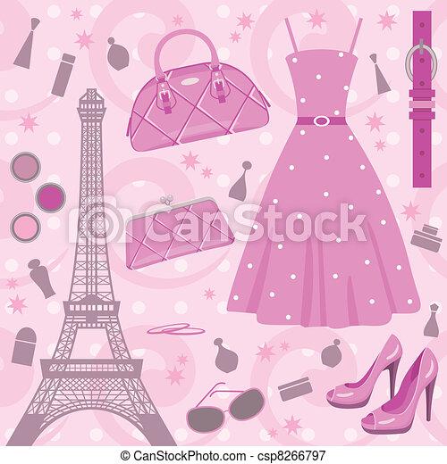 Paris fashion set - csp8266797