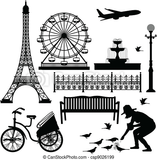 paris, ferris, tour, eiffel, roue - csp9026199