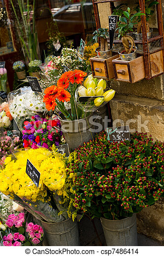 Paris Flower Shop - csp7486414