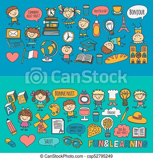 paris france french class french language boys and girls small rh canstockphoto com Paris Clip Art French Artist Clip Art