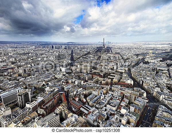 Paris from above - csp10251308