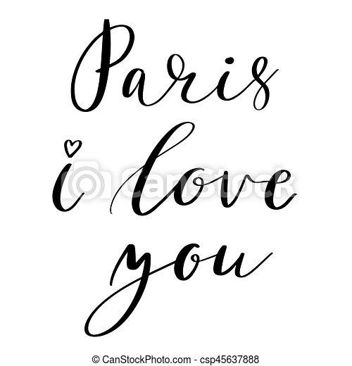 Paris I love you - csp45637888
