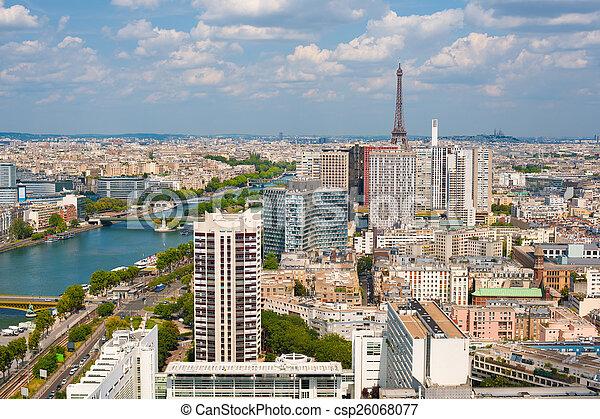 Paris in a cloudy summer day - csp26068077