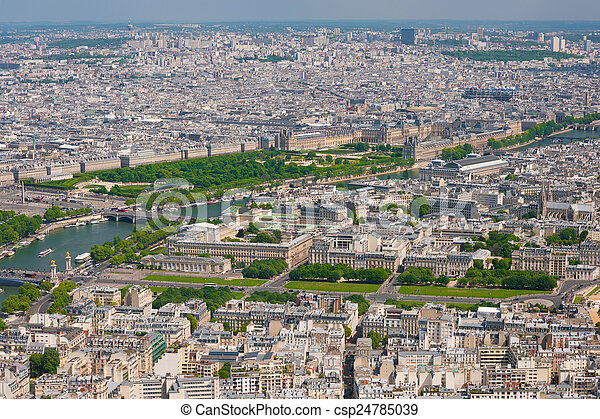 Paris in a sunny summer day - csp24785039