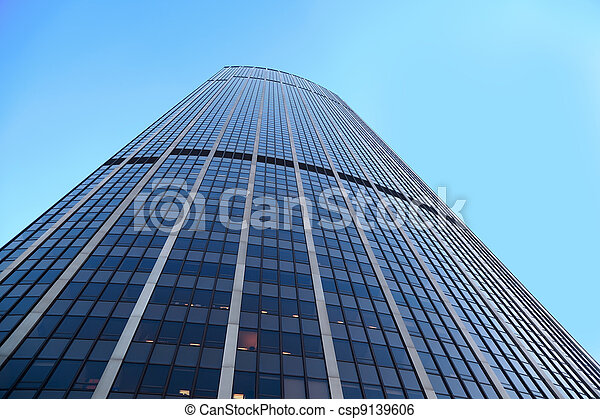 PARIS - JANUARY 4: Tour Montparnasse on January 4, 2010 in Paris, France. Tour Montparnasse - skyscraper located in 15 th arrondissement of Paris. Story skyscraper is 57 floors, height - 210 m - csp9139606