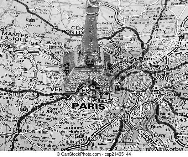 Karte Paris Eiffelturm.Paris Landkarte Turm Eiffel