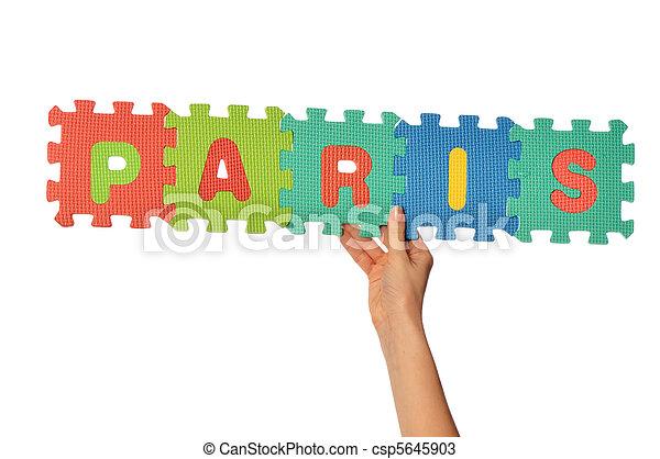 paris, mot - csp5645903
