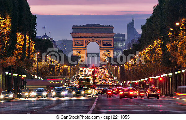 Paris night - csp12211055