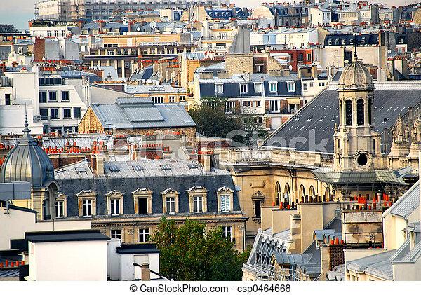 Paris rooftops - csp0464668