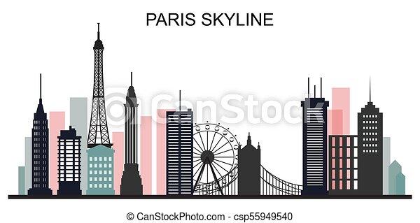 Paris Skyline Eps Vector