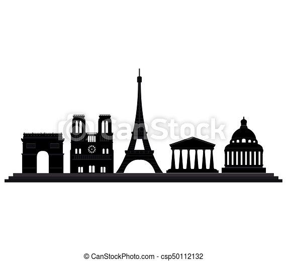 Paris Skyline Vectors