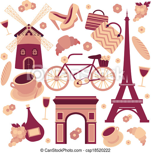 Paris symbols collection - csp18520222