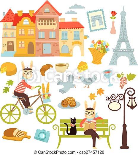 Paris symbols - csp27457120