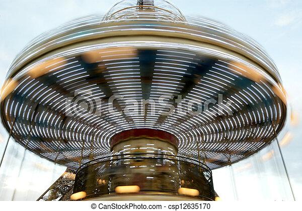 paris, tour, eiffel, carrousel - csp12635170