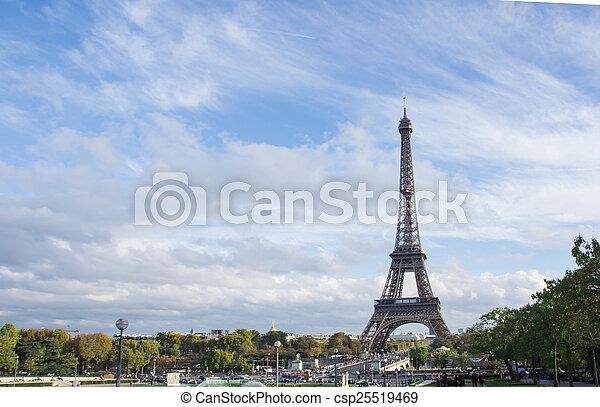 paris, tour, eiffel - csp25519469