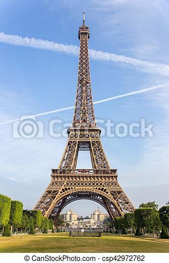 paris, tour, eiffel - csp42972762