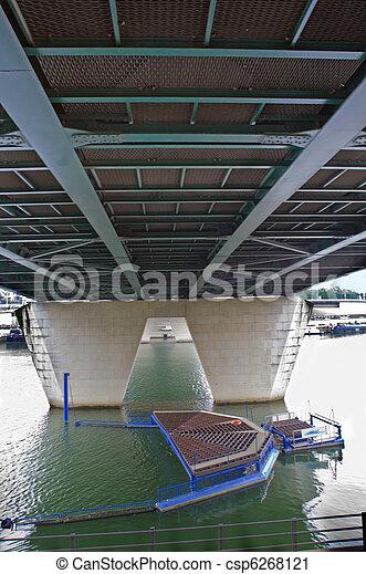 Paris. Under bridge. - csp6268121