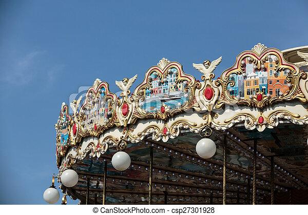paris, vendange, tour, eiffel, carrousel - csp27301928