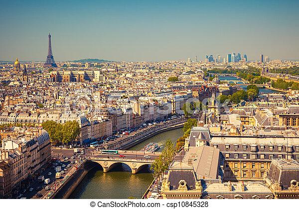 paris, vue - csp10845328