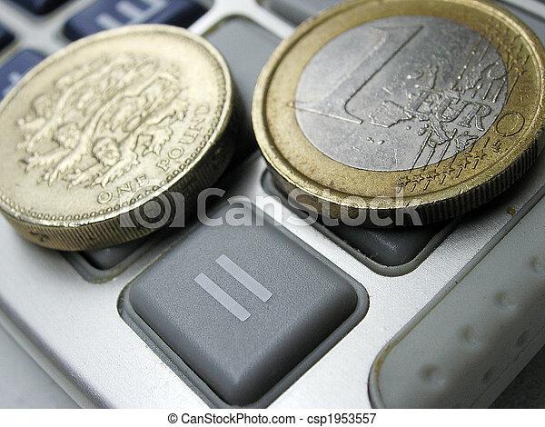 Parite Livre Euro Eurozone Livre Echange Concept